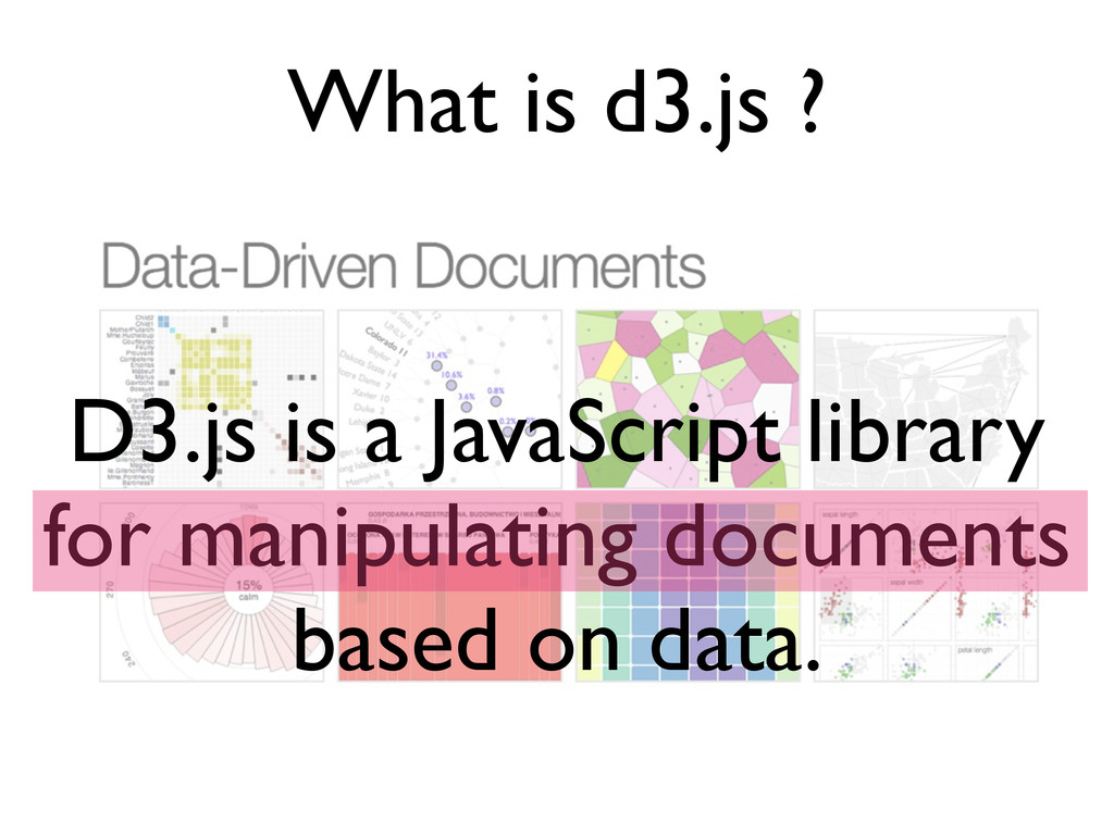 What is d3.js ? D3.js is a JavaScript library f...
