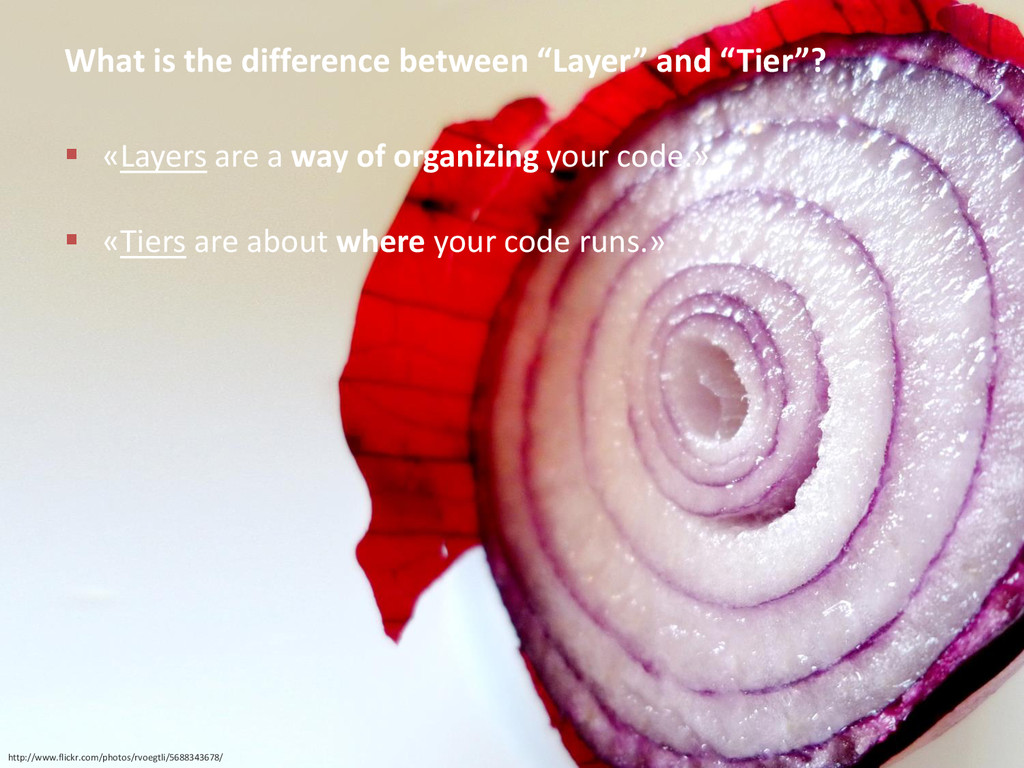 """What is the difference between """"Layer"""" and """"Tie..."""