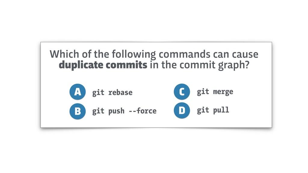 git rebase git push --force A B C D git merge g...