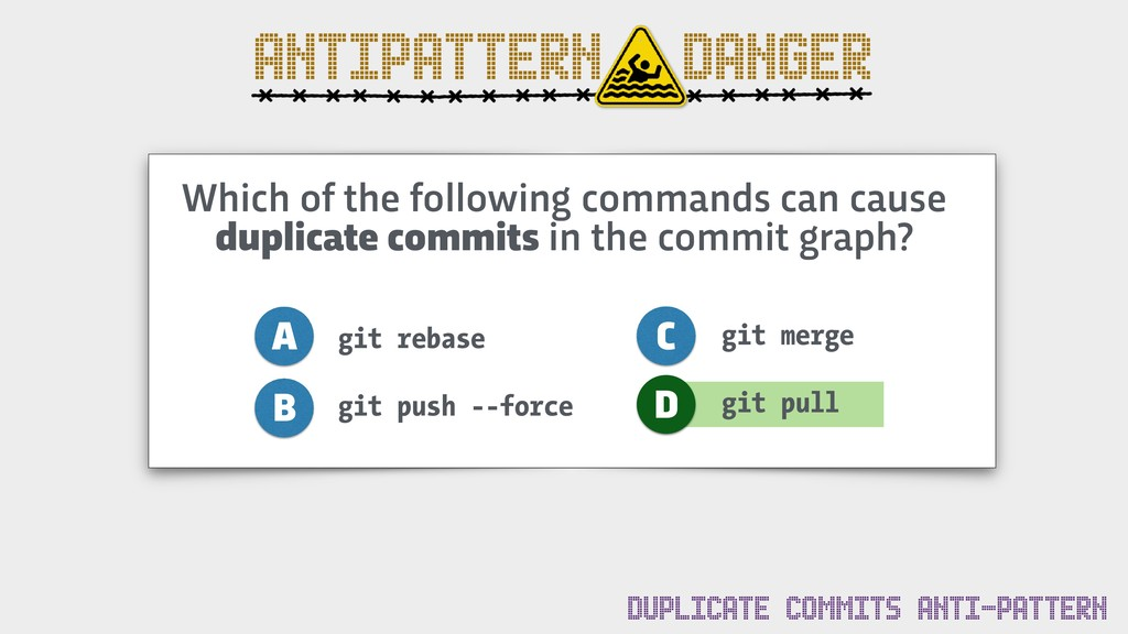ANTIPATTERN DANGER Which of the following comma...