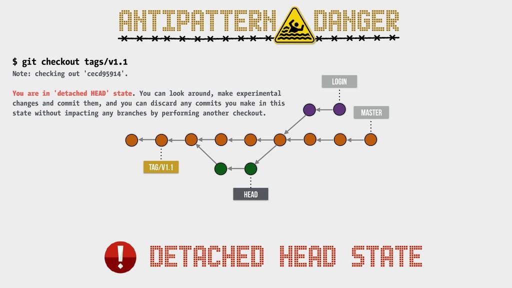 master TAG/v1.1 login HEAD DETACHED HEAD STATE ...