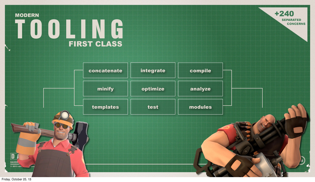 T O O L I N G MODERN FIRST CLASS +240 SEPARATED...