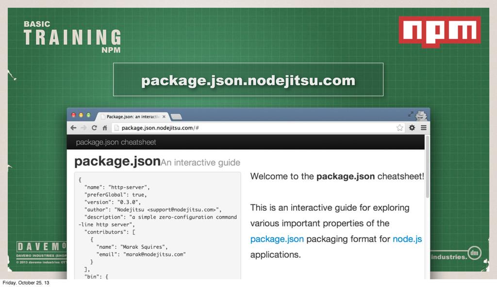 T R A I N I N G BASIC NPM package.json.nodejits...