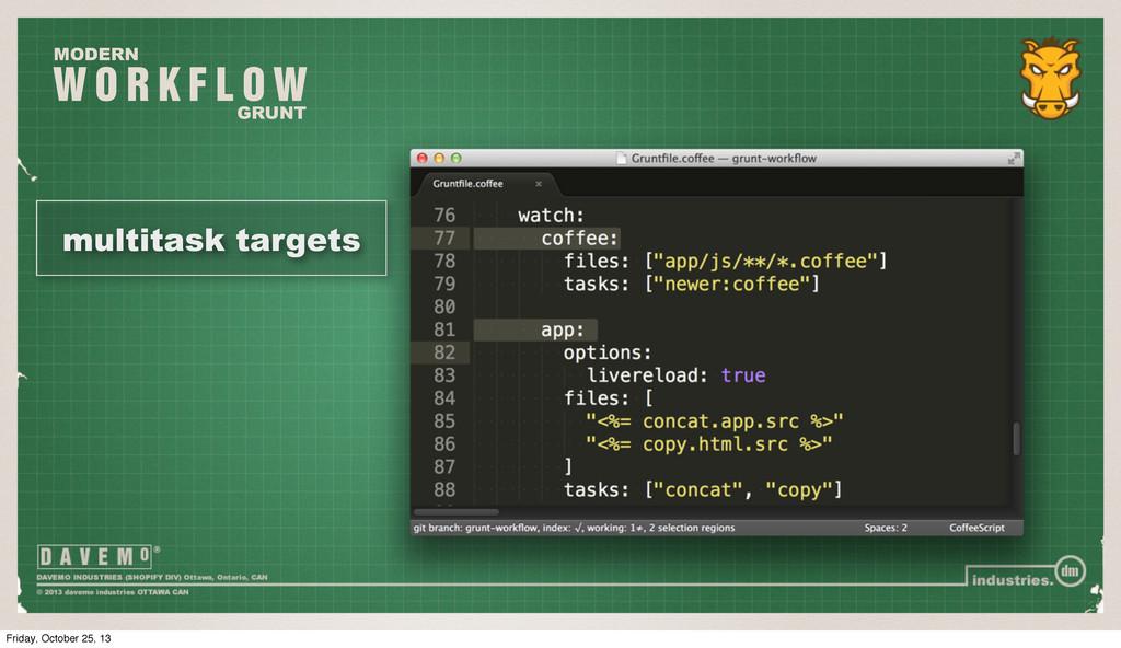 W O R K F L O W MODERN GRUNT multitask targets ...