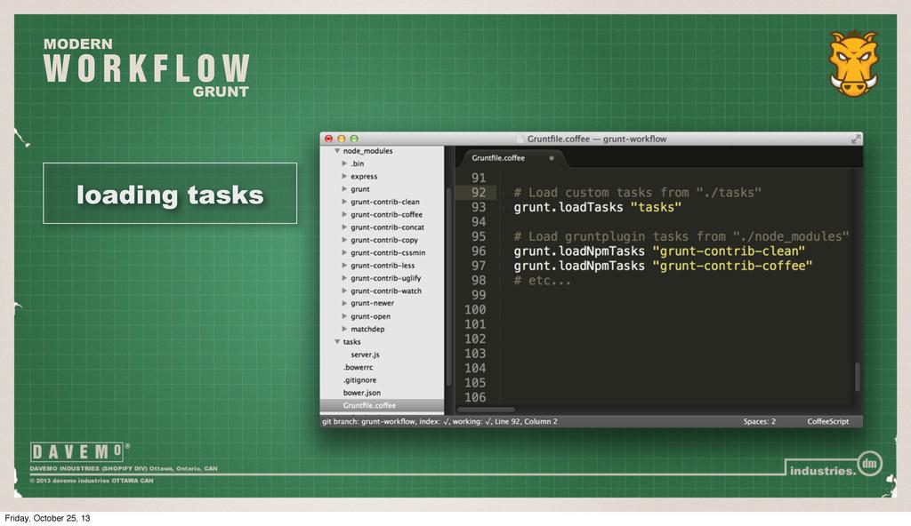 W O R K F L O W MODERN GRUNT loading tasks Frid...