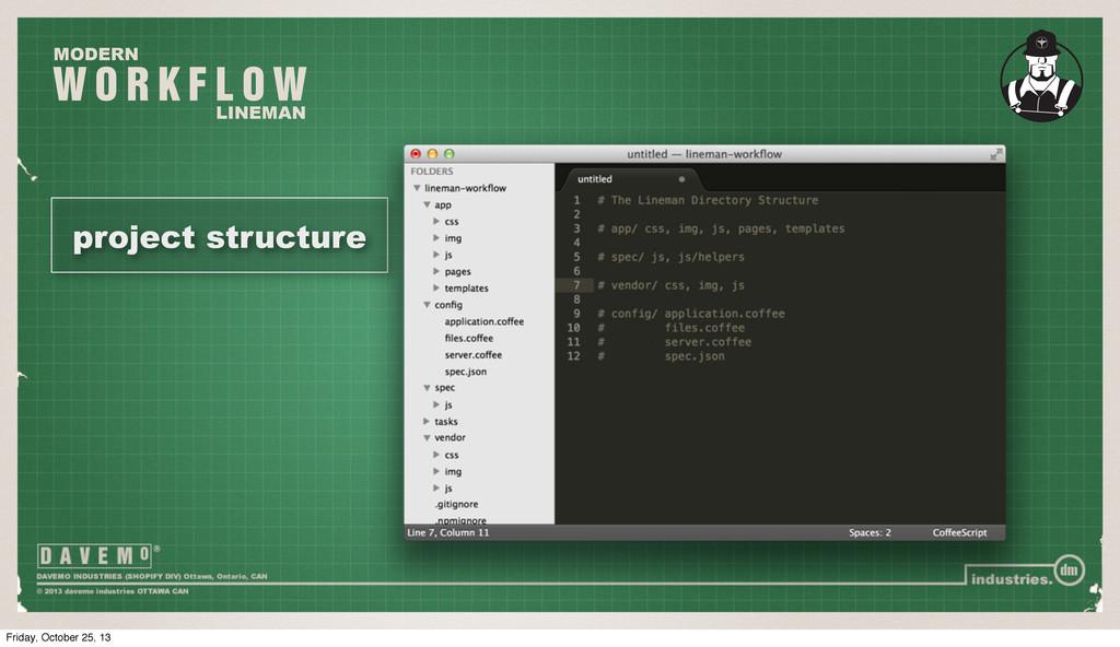W O R K F L O W MODERN LINEMAN project structur...