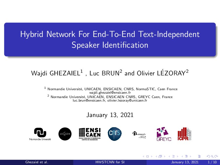 Hybrid Network For End-To-End Text-Independent ...
