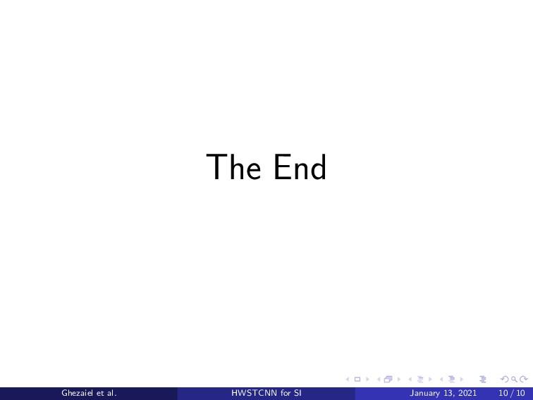 The End Ghezaiel et al. HWSTCNN for SI January ...