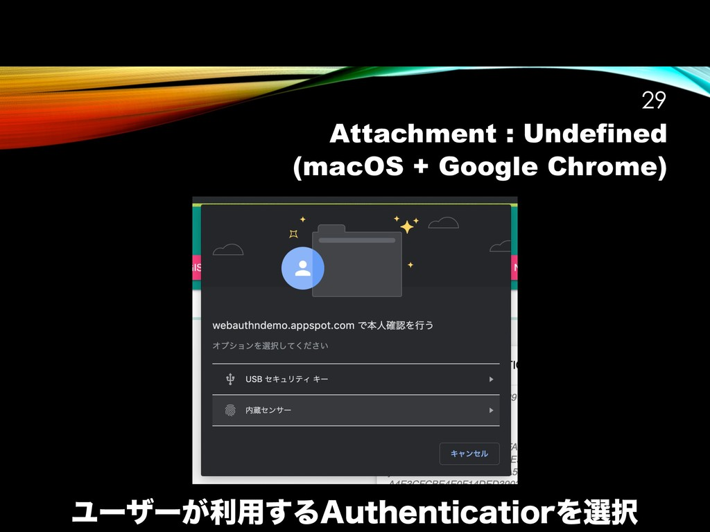 Attachment : Undefined (macOS + Google Chrome) ...