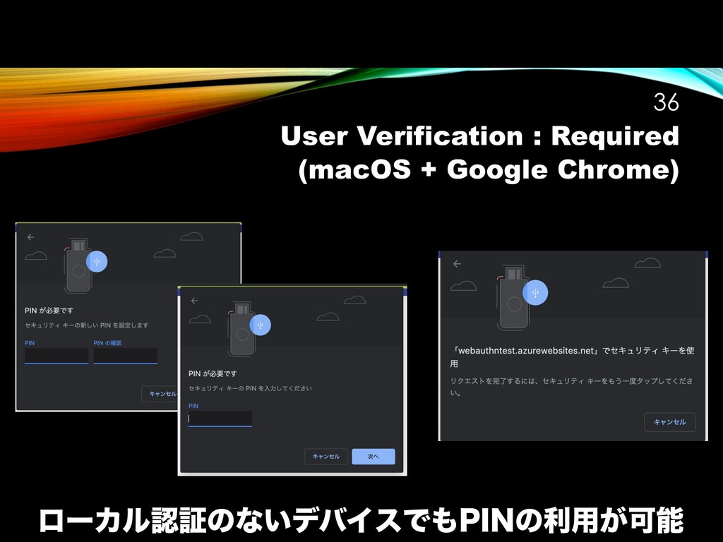 User Verification : Required (macOS + Google Ch...