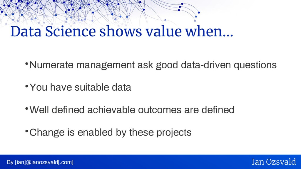  Numerate management ask good data-driven ques...