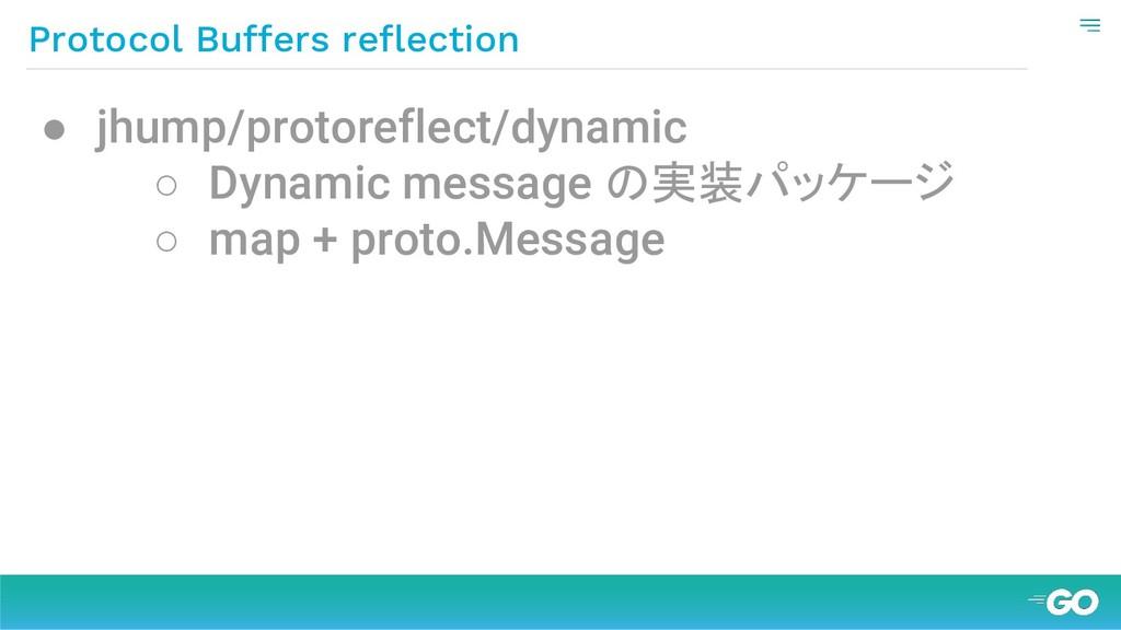 Protocol Buffers reflection ● jhump/protoreflec...