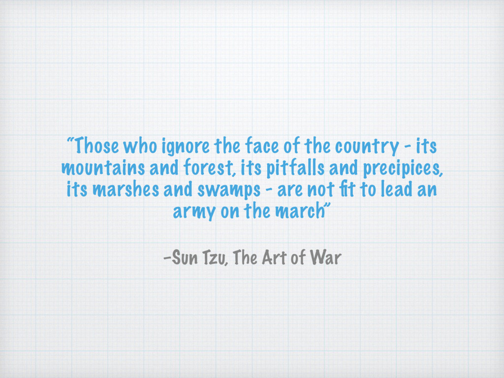 """""""Those who ignore the face of the country - its..."""