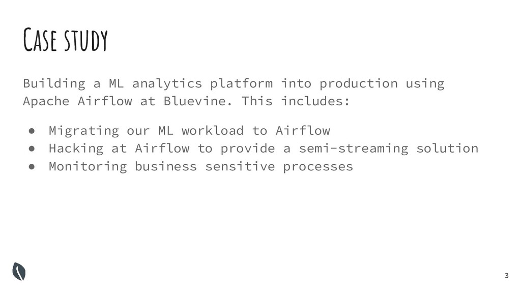 3 Building a ML analytics platform into product...