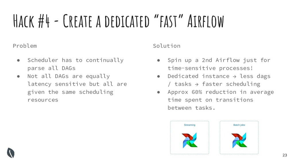 "23 Hack #4 - Create a dedicated ""fast"" Airflow S..."
