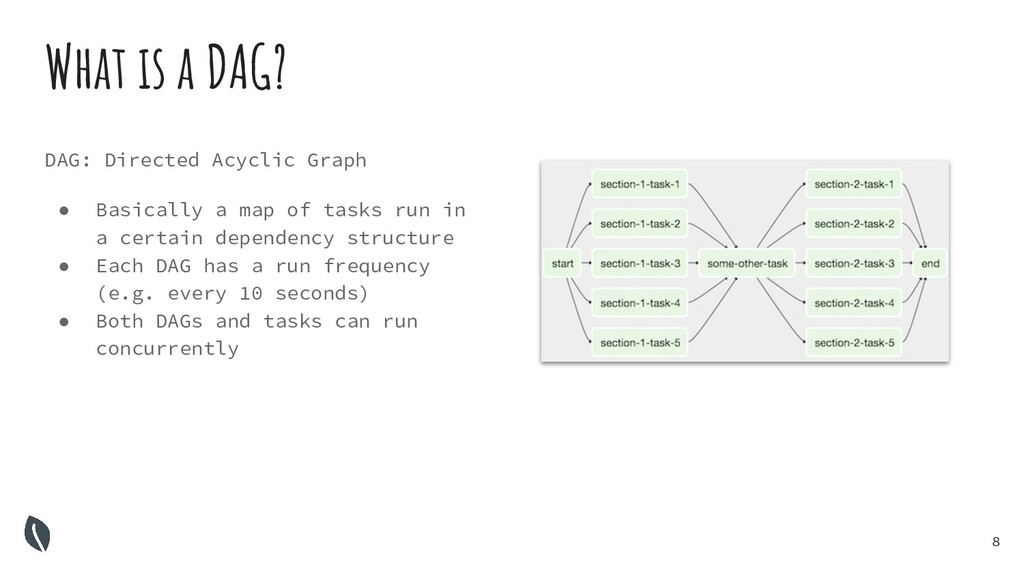 8 What is a DAG? DAG: Directed Acyclic Graph ● ...