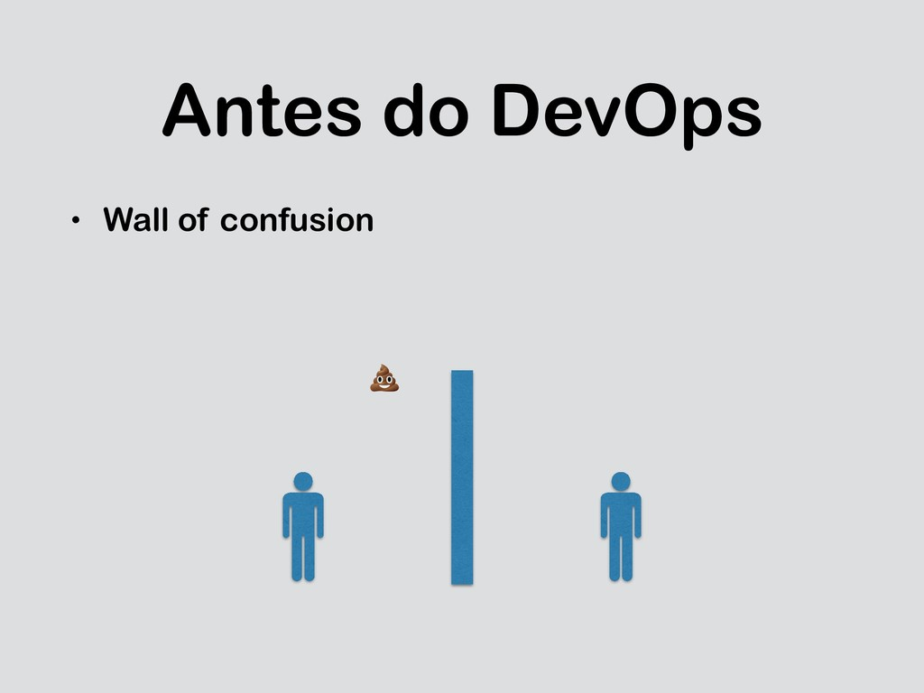 Antes do DevOps • Wall of confusion