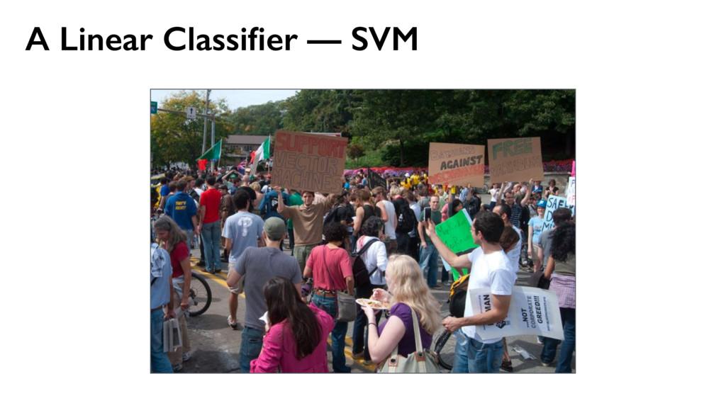A Linear Classifier — SVM