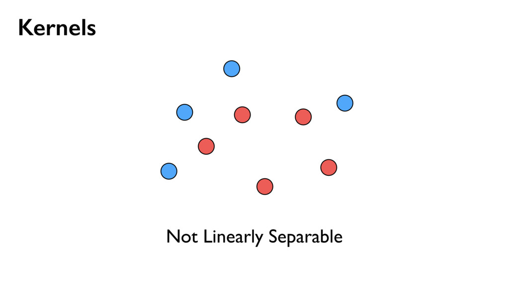 Kernels Not Linearly Separable