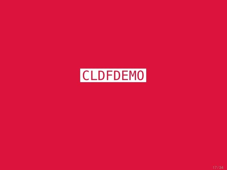 CLICS² Excursus CLDFDEMO 17 / 34