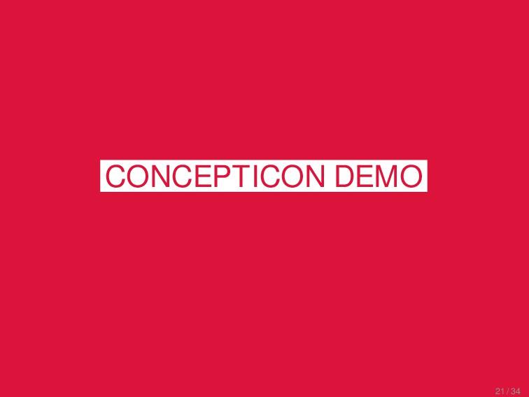 CLICS² Excursus CONCEPTICON DEMO 21 / 34