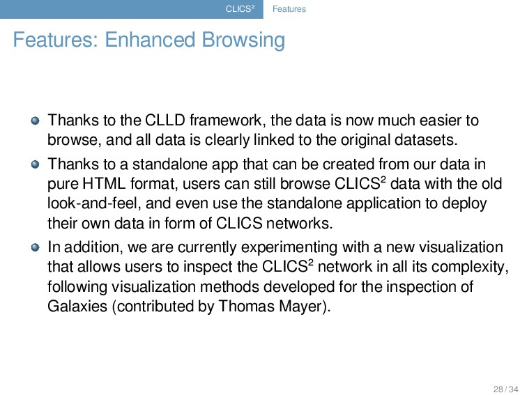 CLICS² Features Features: Enhanced Browsing Tha...