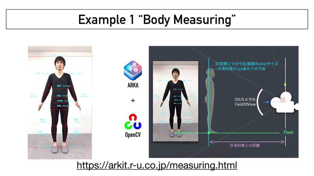 """Example 1 """"Body Measuring"""" ARKit OpenCV + Floor..."""