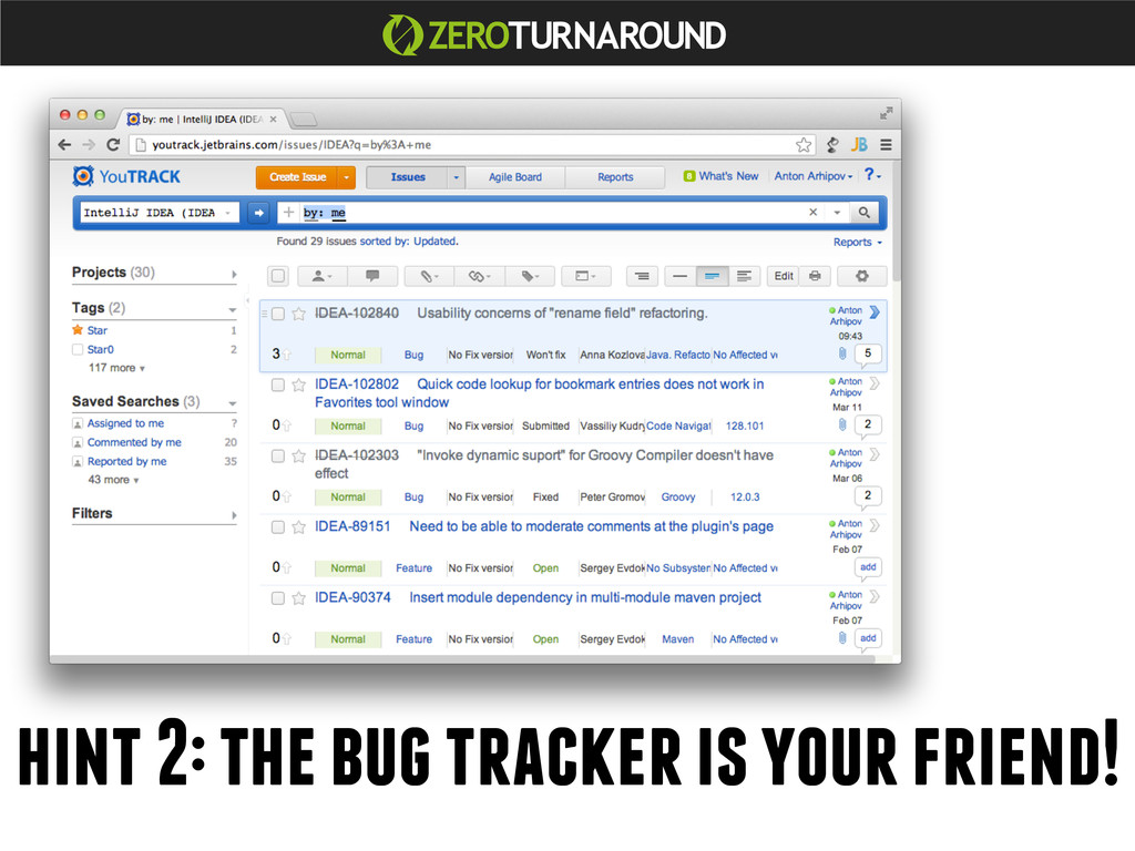 hint 2: the bug tracker is your friend!