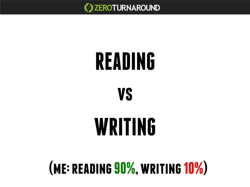 READING vs WRITING (me: reading 90%, writing 10...