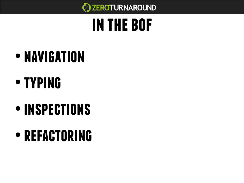 in the bof • navigation • typing • inspections ...