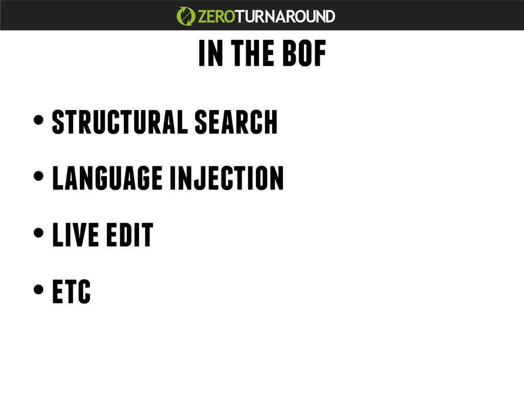 in the bof • structural search • language injec...