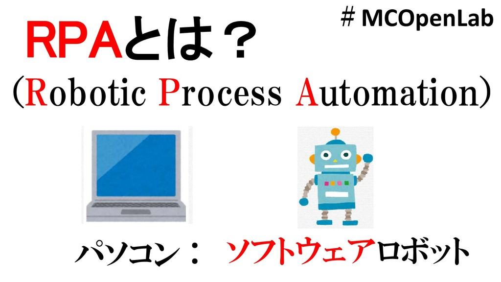 RPAとは? (Robotic Process Automation) パソコン : ソフトウ...