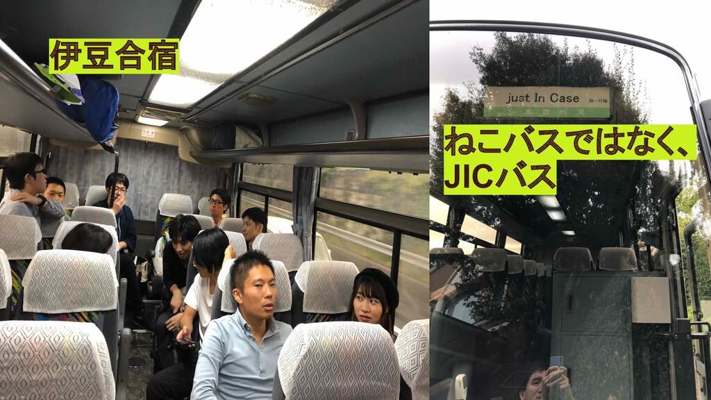 伊豆合宿 ねこバスではなく、 JICバス