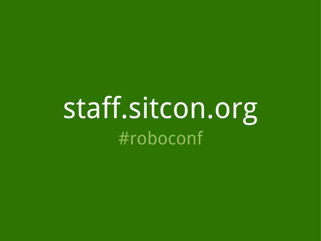 staff.sitcon.org #roboconf