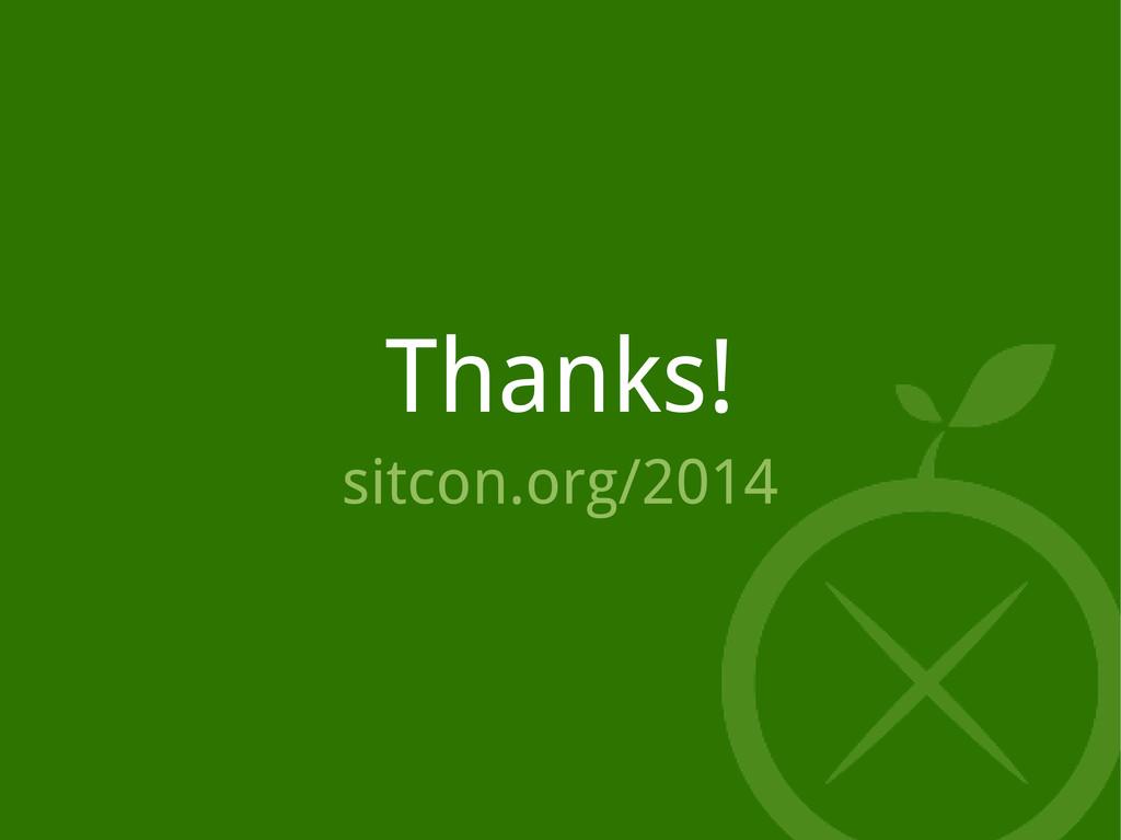 Thanks! sitcon.org/2014