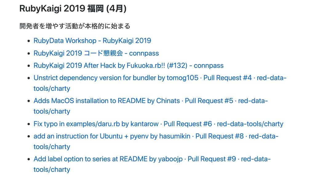 RubyKaigi 2019 福岡 (4⽉) 開発者を増やす活動が本格的に始まる RubyDa...