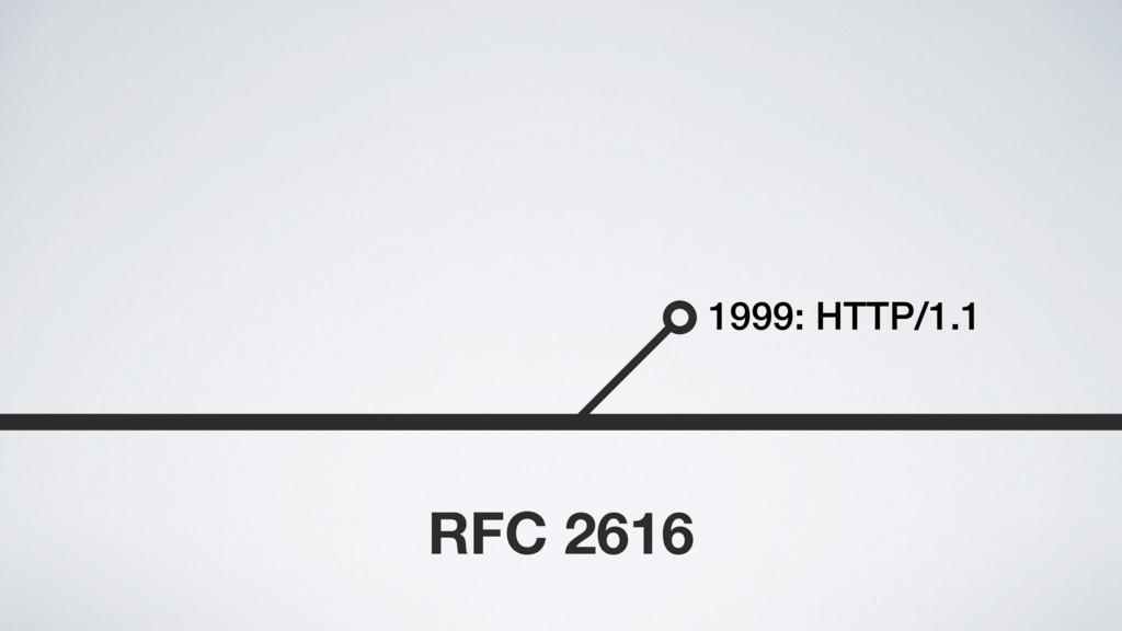 1999: HTTP/1.1 RFC 2616