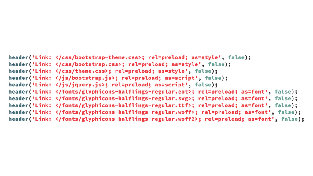 header('Link: </css/bootstrap-theme.css>; rel=p...