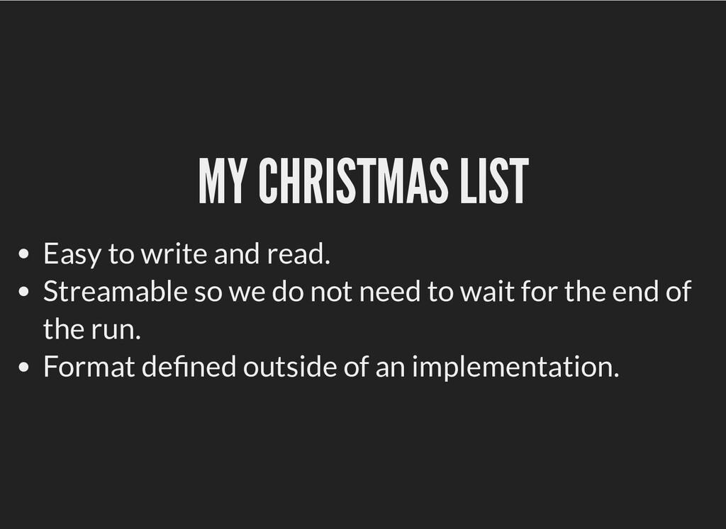MY CHRISTMAS LIST MY CHRISTMAS LIST Easy to wri...