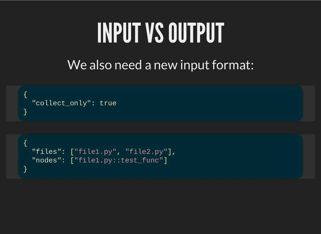 INPUT VS OUTPUT INPUT VS OUTPUT We also need a ...