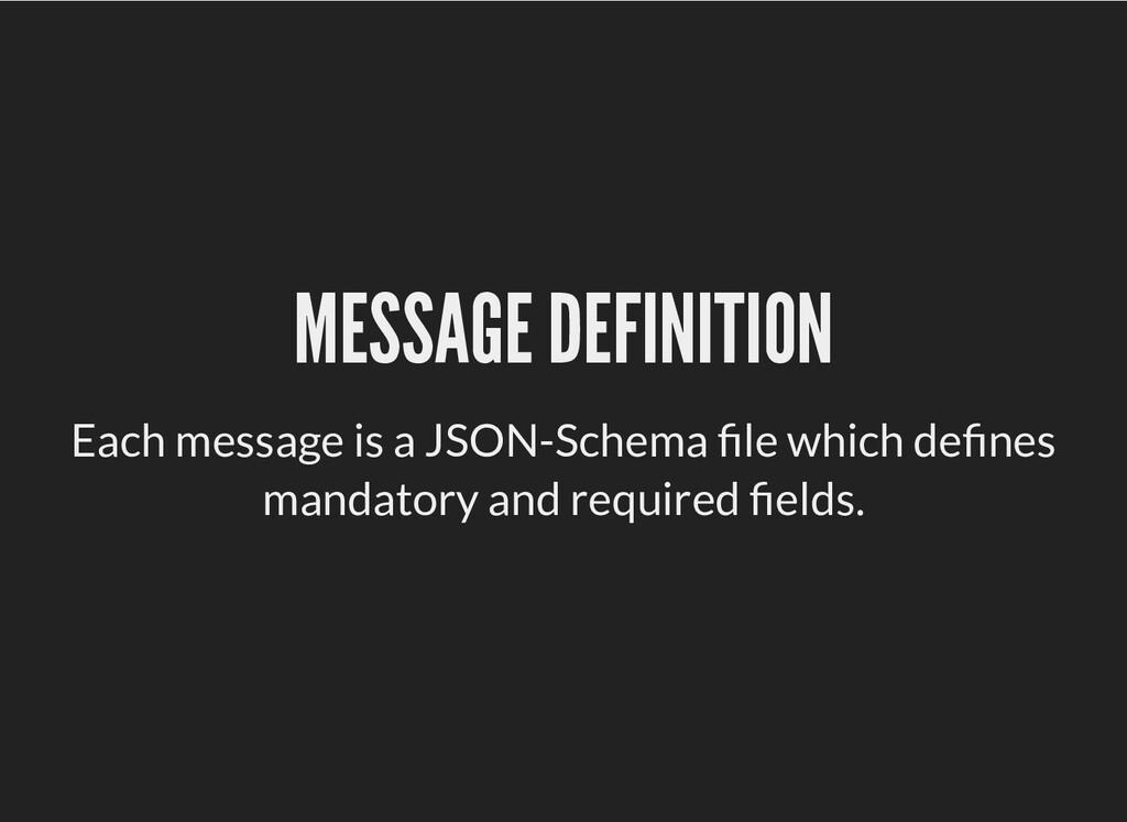 MESSAGE DEFINITION MESSAGE DEFINITION Each mess...