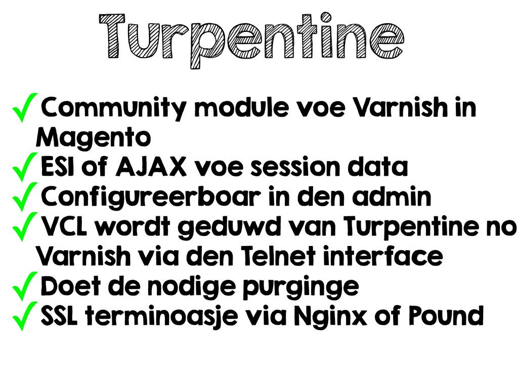 Turpentine ✓Community module voe Varnish in Mag...