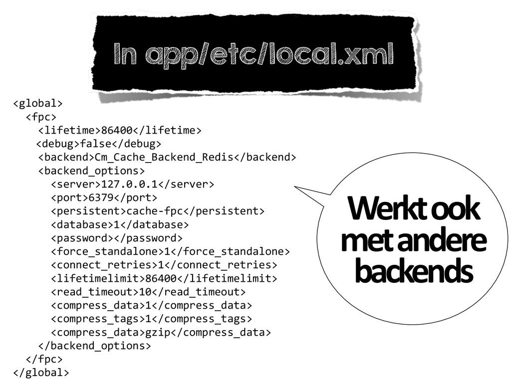 In app/etc/local.xml <global>    <fpc>...