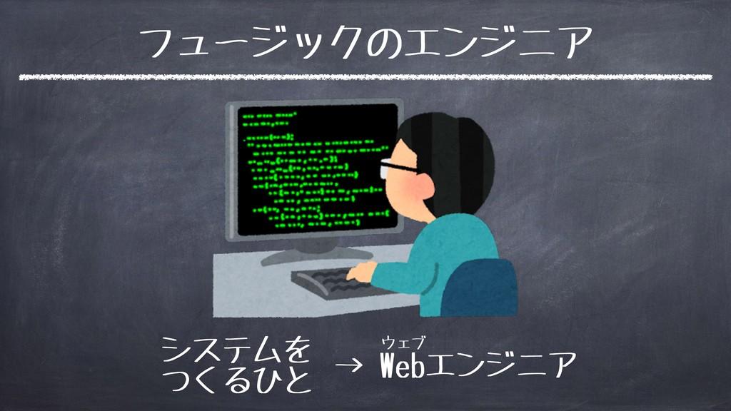 フュージックのエンジニア システムを つくるひと → Webエンジニア ウェブ