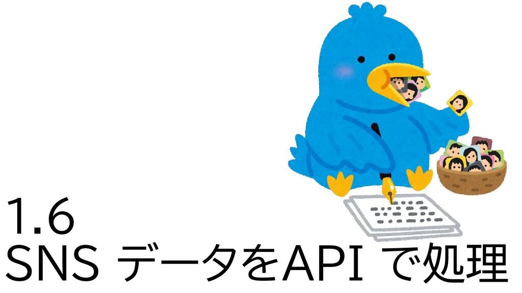 1.6 SNS データをAPI で処理