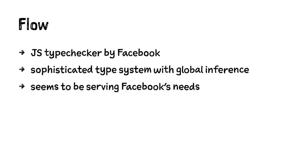 Flow 4 JS typechecker by Facebook 4 sophisticat...