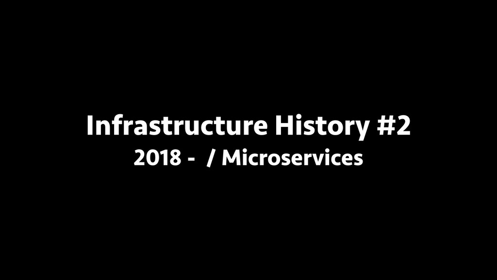 Infrastructure History #2 2018 - / Microservices
