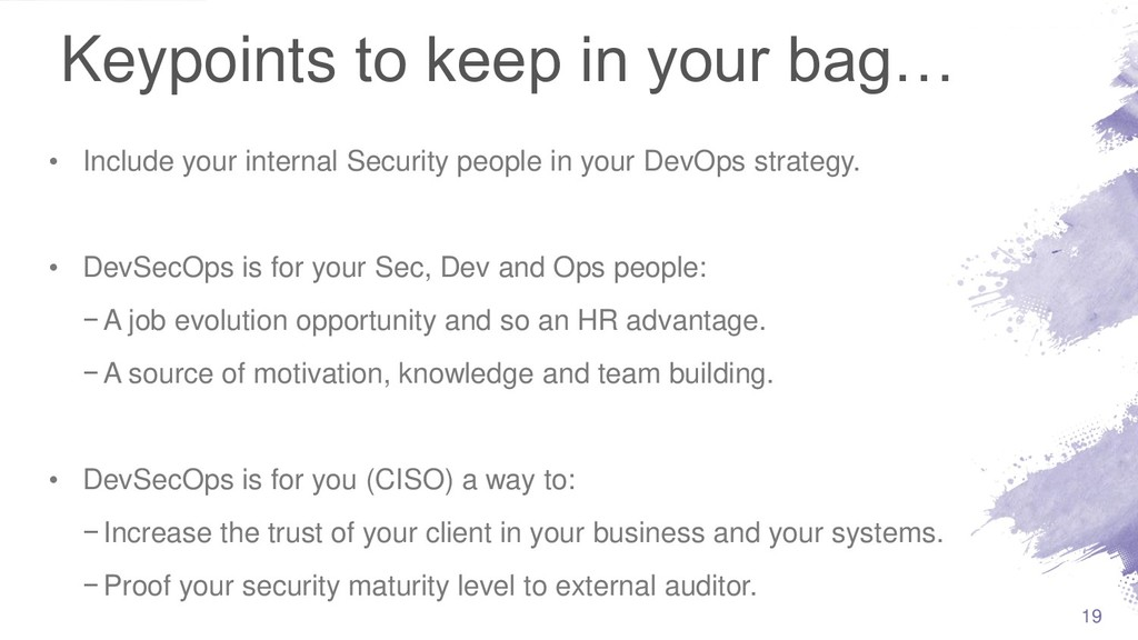 Keypoints to keep in your bag… • Include your i...