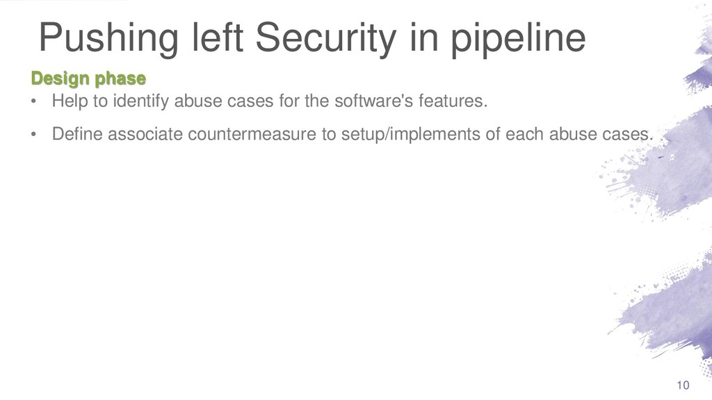 Pushing left Security in pipeline • Help to ide...