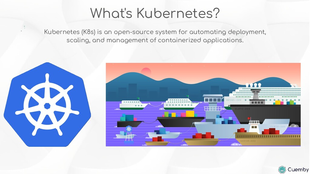 What's Kubernetes? Kubernetes (K8s) is an open-...